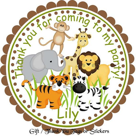 Jungle sarfari animals personalized stickers by sharenmoments