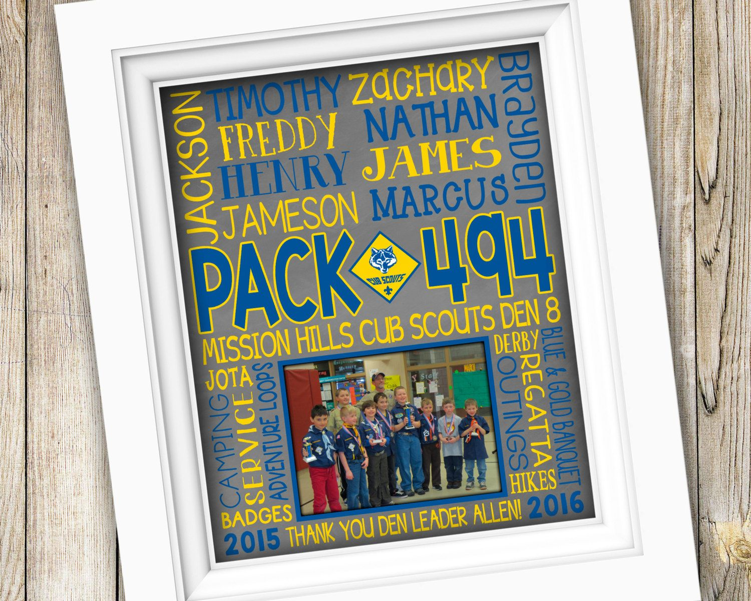 Cub Scouts Pack Gift Cub Scout Den Leader Gift Cub Scouts Gifts ...