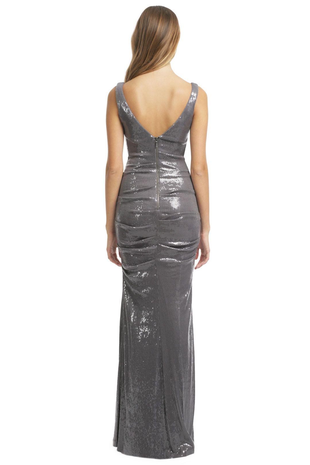 Arctic mist gown by nicole miller back designer dresses
