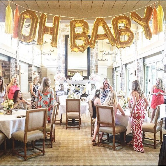 Oh Baby Balloons Letter Balloons Banner Baby Shower Banner