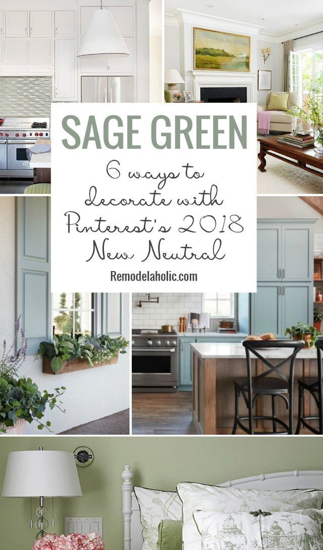 "Sage Green 6 Ways to Decorate Your Home with Pinterest's 2018 ""New Neutral"" Color Trend (Remodelaholic) is part of decor Styles Names - Pinterest named sage green the ""new neutral"" for 2018 and we definitely can see why  Not only is sage a soothing, earthy hue but it also pairs well with many different home decor styles Whether you gr"