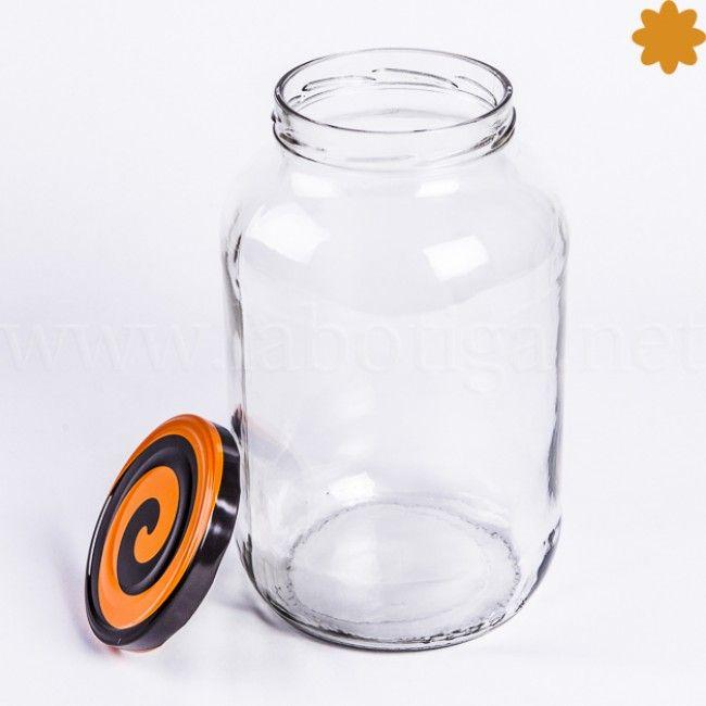 tarro de vidrio con capacidad de 5 litros y tapa hermtica con espiral - Tarros De Vidrio