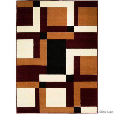 Allstar Rugs Burgundy Brown Area Rug Geometric Rug Area Rugs Rugs