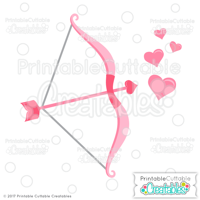 Cupid S Bow Arrow Free Svg Files Svg And Silhouette Files