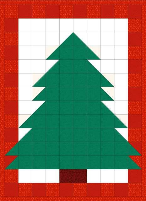 EQ Quilt Pattern Christmas Tree Quilt-Christmas Tree Quilt with