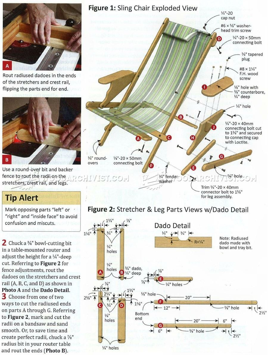 Sling Chair Plans Woodworking Furniture Plans Outdoor Furniture