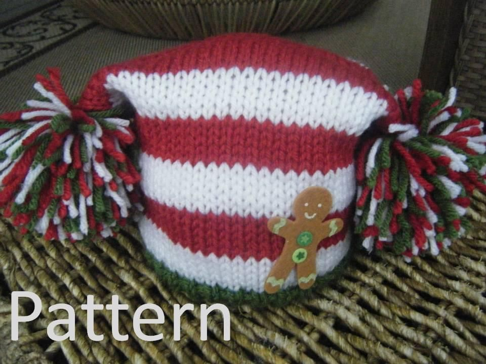 Striped Gingerbread Christmas Hat via Craftsy