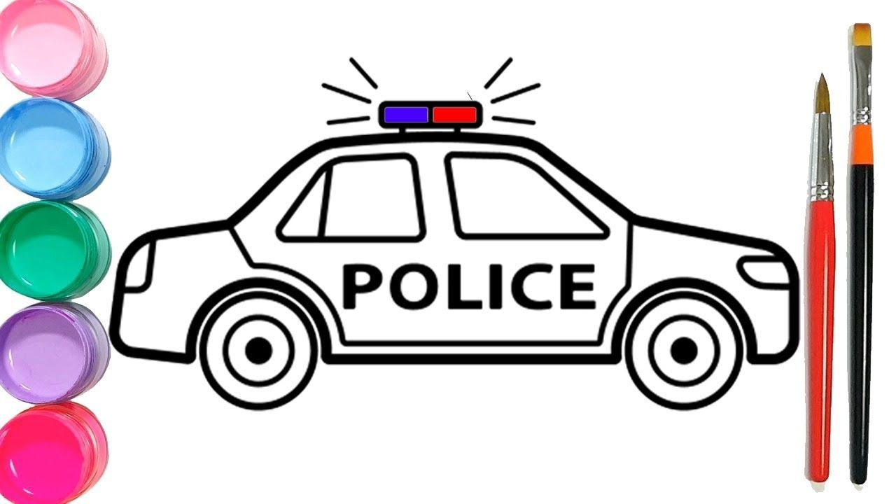 How To Draw A Police Car Drawing Lessons For Kids Police Cars Drawing Lessons