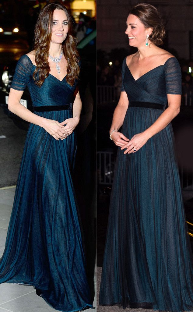 Jenny Packham Teal Gown From Kate Middleton S Recycled Looks