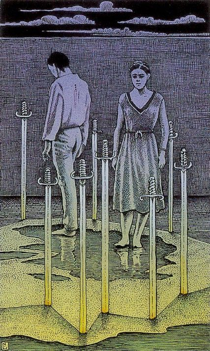 Eight Of Swords Cosmic Tarot By Norbert Losche Tarot Pinterest