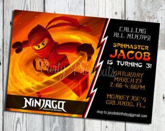 lego ninjago invitations free printable Ninjago Birthday Party
