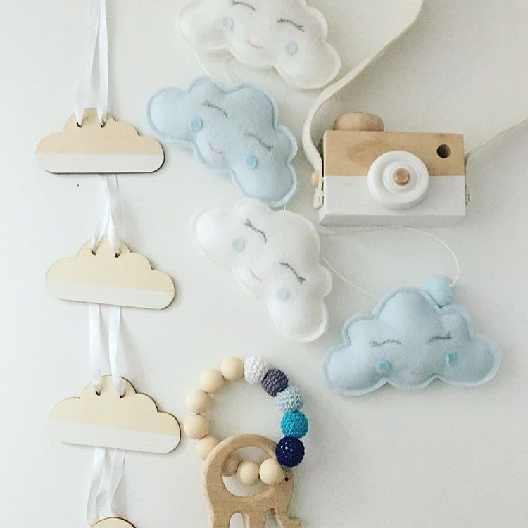"@feltaddict on Instagram: ""Content clouds. \\ @claires.crafts #feltaddict . . . . #feltgarland #cloudgarland #shopsmall #handmadehomedecor #supporthandmade #shopetsy…"""