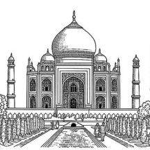 Realistic Drawing Of Taj Mahal Coloring Page Realistic Drawings