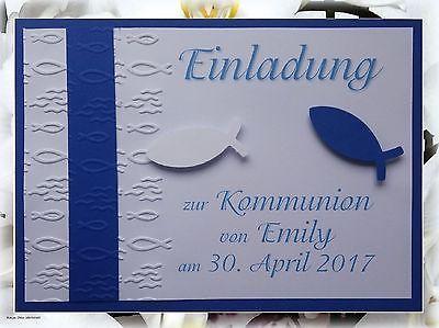 einladungskarte kommunion konfirmation taufe firmung danksagung, Einladungen