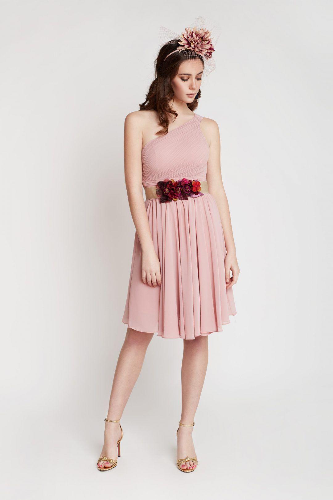 Vestido corto en color rosa | Vestidos invitada boda, Vestidos ...