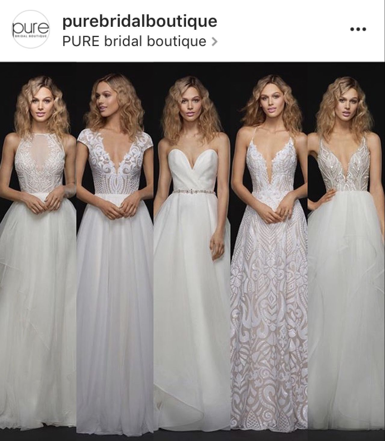 Pure bridal boutique fall blush by hayley paige beautiful