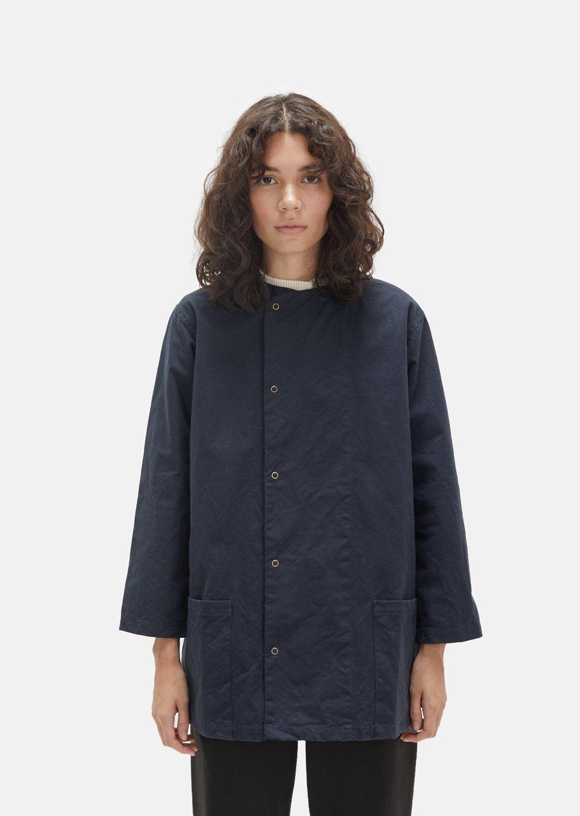 Military canvas snap front shirt jacket shirt jacket cotton