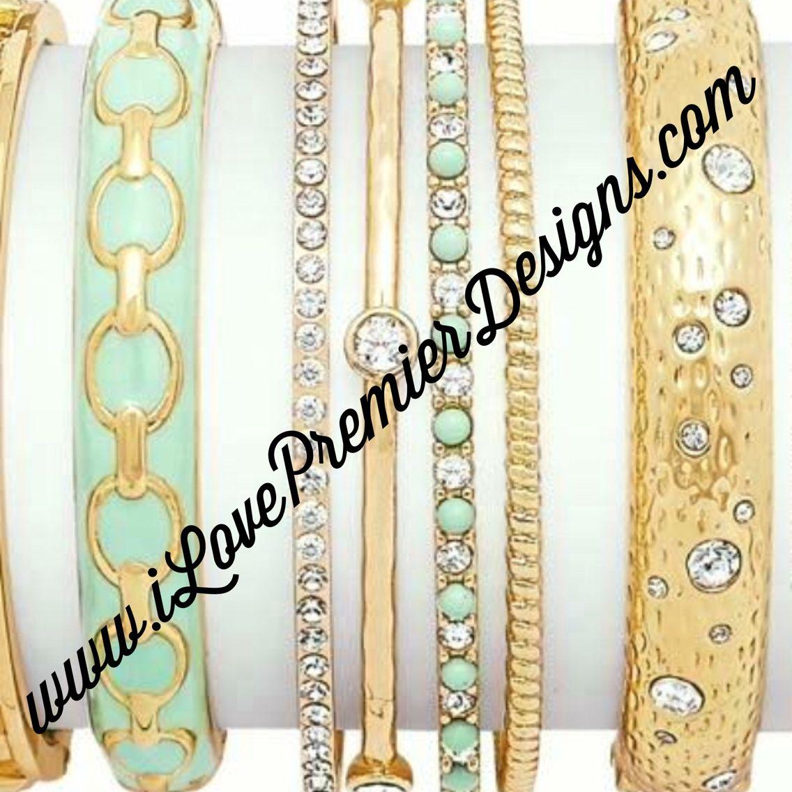 Beautiful gold bracelets! Visit my website: www.ilovepremierdesigns.com