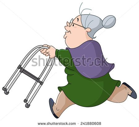 Old Lady Stock Photos Images Pictures Running Illustration Running Women Older Woman Illustration