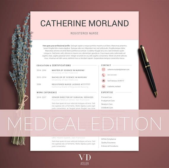 Medical Resume Word Template Doctor Nurse Resume Template Nurse - medical resume template