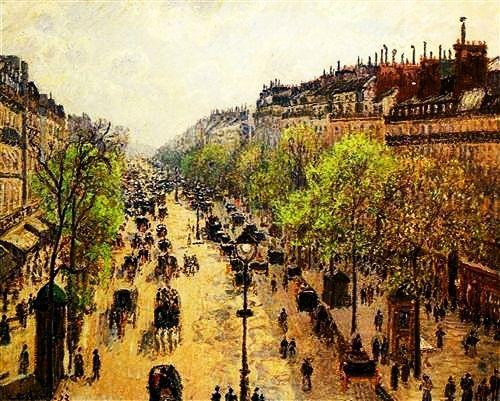 """Boulevard Montmartre Spring"" 1897. Camille Pissarro."