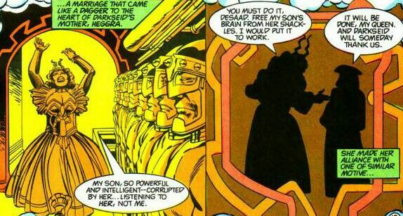 Pin On New Gods Of Apokolips With Darkseid S Elite Steppenwolf Desaad Yuga Khan Kalibak Grail Granny Goodness Female Furies Mantis Glorious