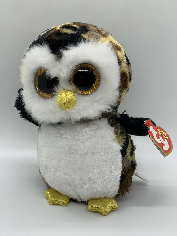 """TY Beanie Boos 6"""" OWLIVER Owl Plush Boo Camouflage Sparkly"""