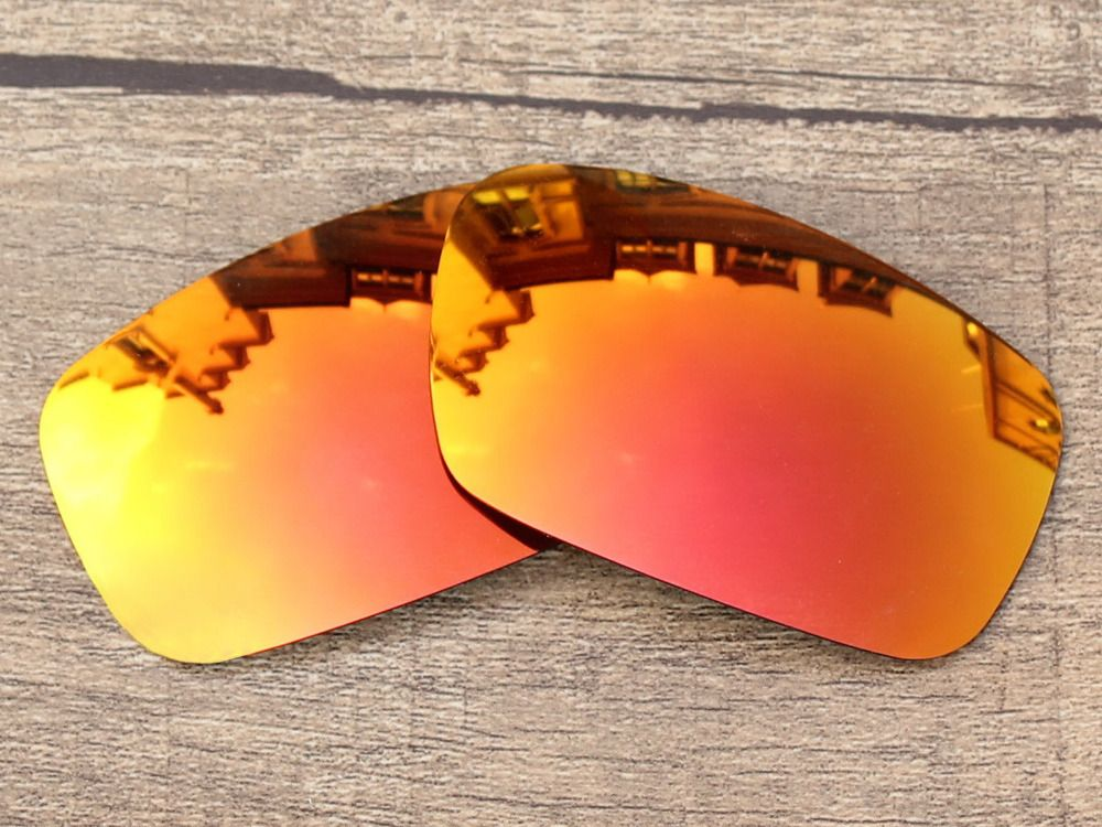 Polycarbonate-Fire Red Mirror Replacement Lenses For Crankshaft Sunglasses Frame 100% UVA & UVB Protection