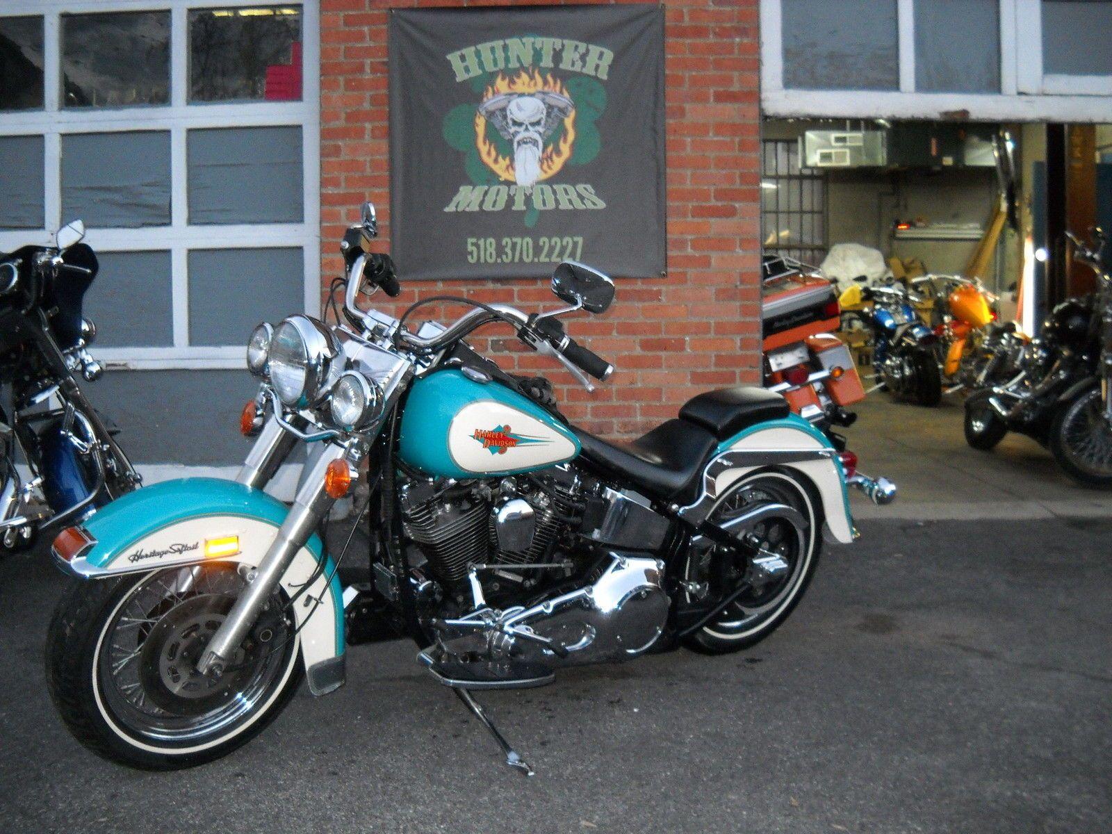 Harley Davidson Softail 1992 HARLEY DAVIDSON FLSTC HERITAGE FACTORY TEAL