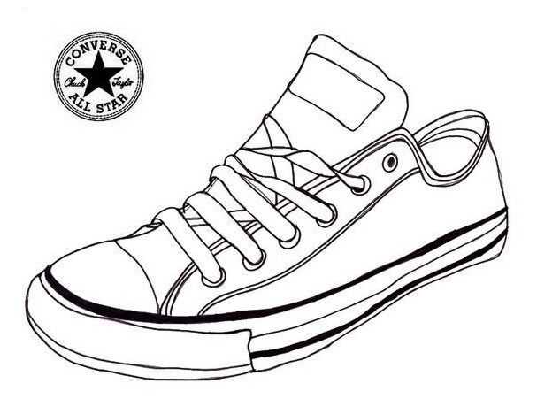Converse Sneaker Coloring Page Shoes | shoes coloring page ...