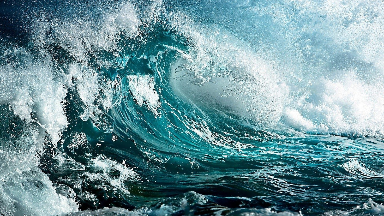 Colour Depth And Tempest Arising Ocean Waves Sea And Ocean Waves Wallpaper
