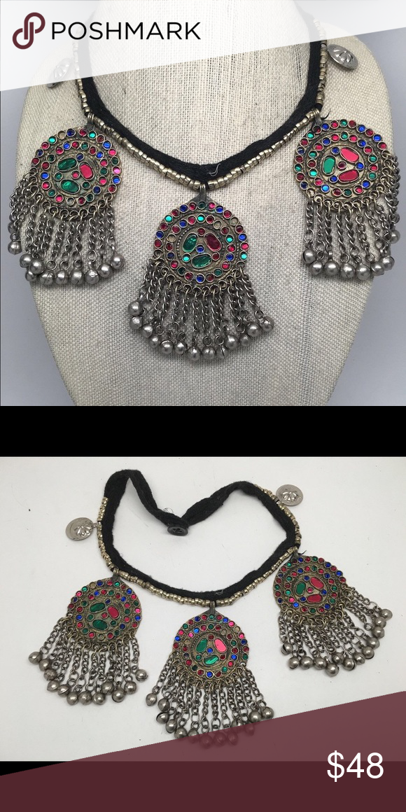 Vintage Tribal Necklace Brand new never been worn, tribal pendant Choker Witherspoon beading Child of Wild Jewelry Necklaces
