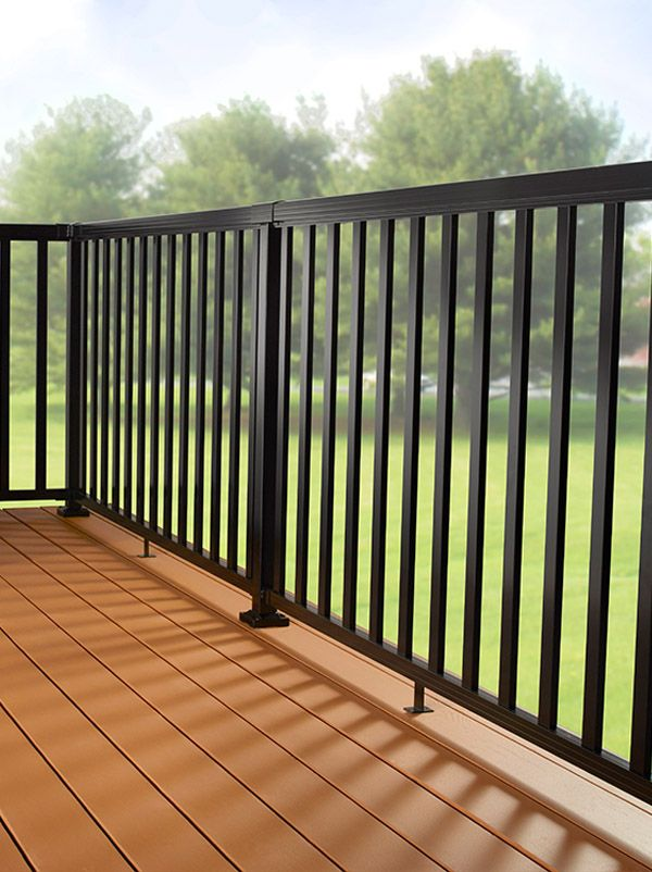 DIY Aluminum Railing System - Wide Pickets with Black ...