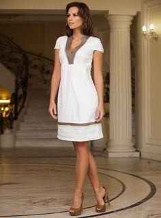 Lace Patchwork Ruffle Hem Button Detail Dress | Ve