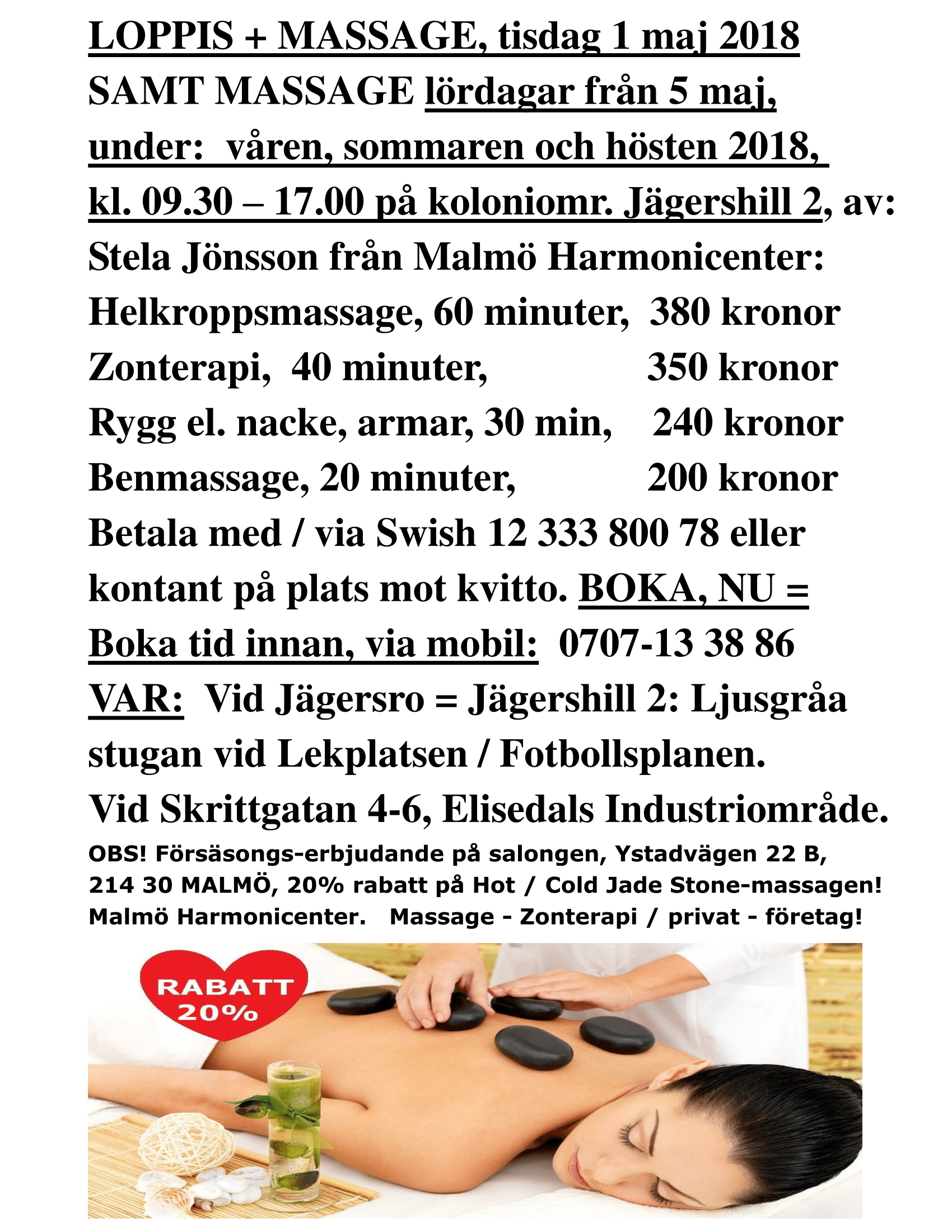 boka massage malmö