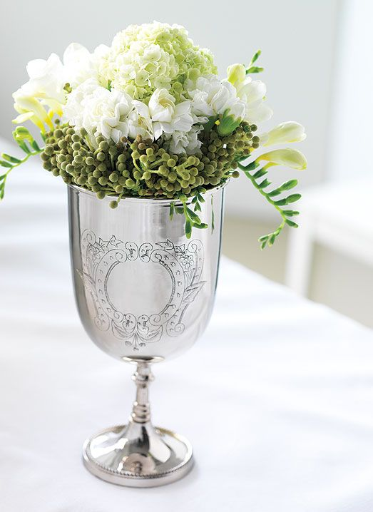 Quick and easy flower arrangements for special occasions flowers sterling silver goblet arangement perfect for special occasions mightylinksfo
