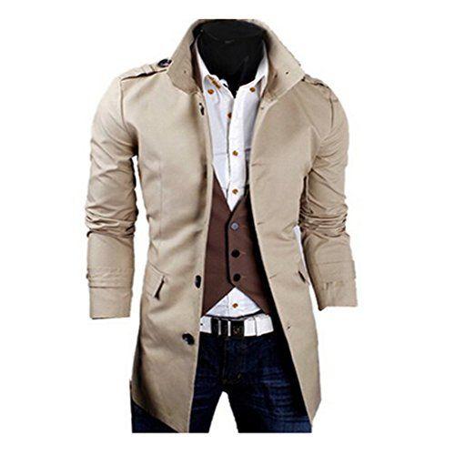OnSaleWear Mens High Neck Trench Coat Wind Breaker Outerwear men jacket  winter Fancy Dress Store http://www.am…   Men s coat, Fancy dress store, Trench  coat jackets