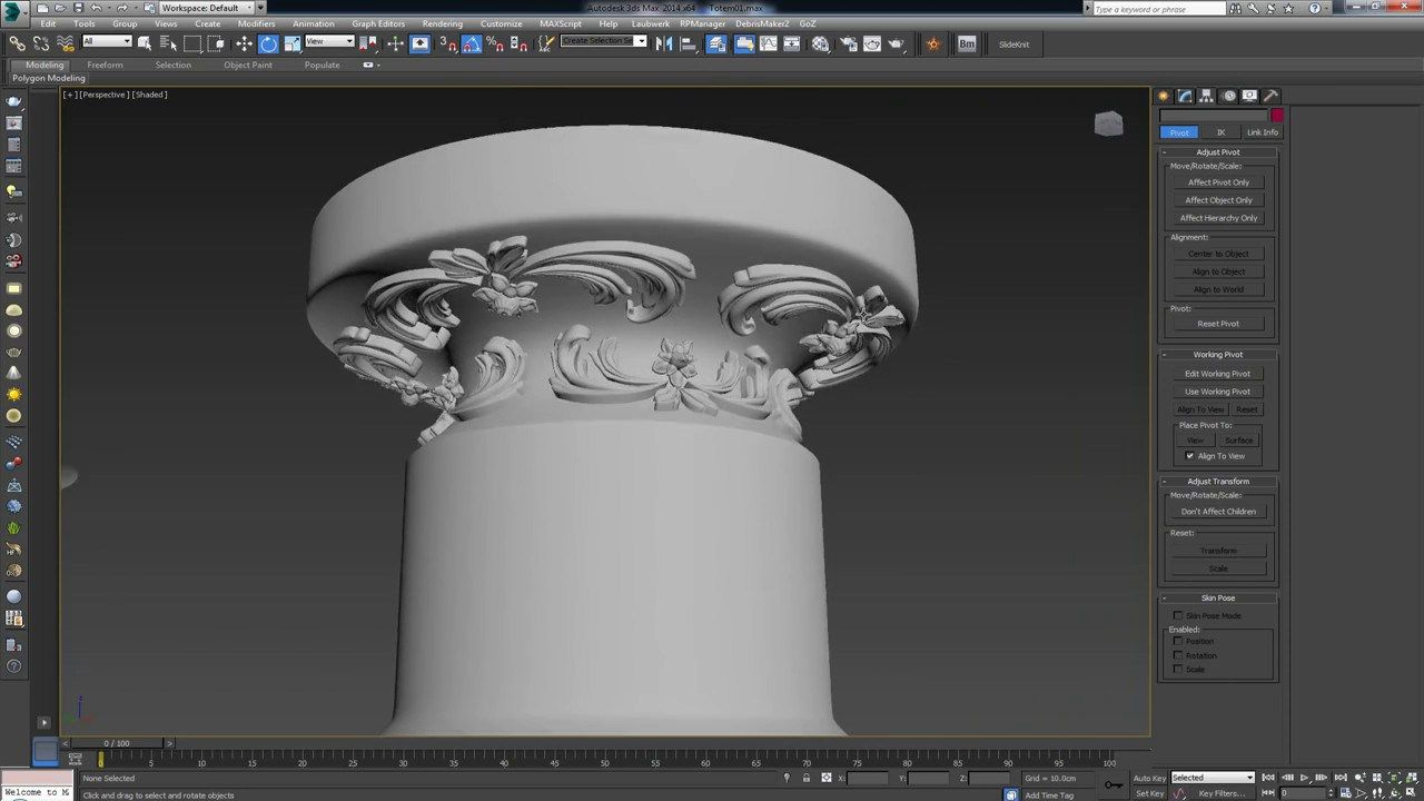 Modeling complex carvings and shapes on uneven surfaces in for 3ds max design