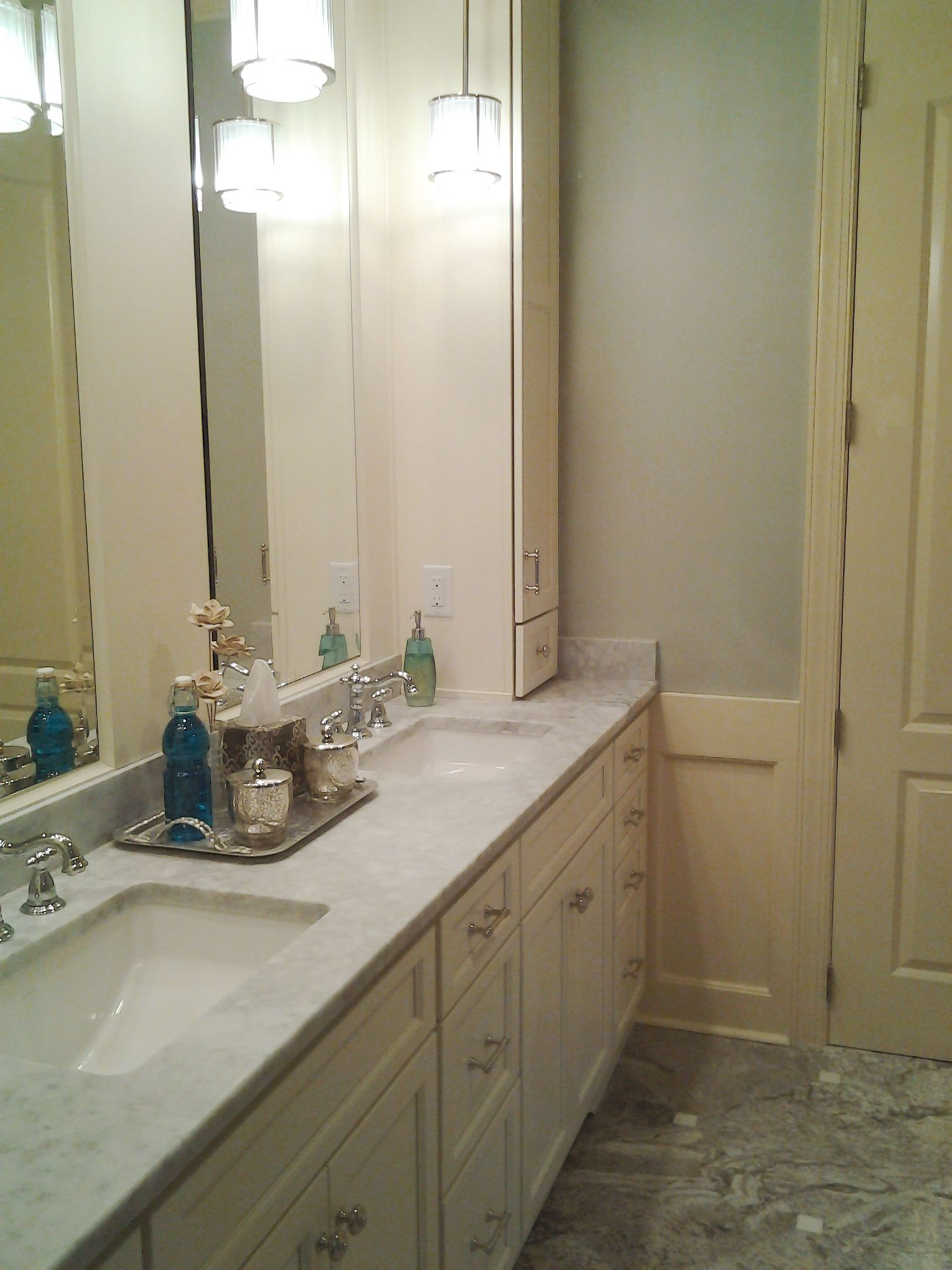 Master Bathroom In Savannah Ga Designed By Mccall Chase Ckd Renovation Work Performed By The Remodeling De Master Bathroom Bathroom Framed Bathroom Mirror