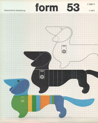 {form 53} Otl Aicher - cool doxie graphic art