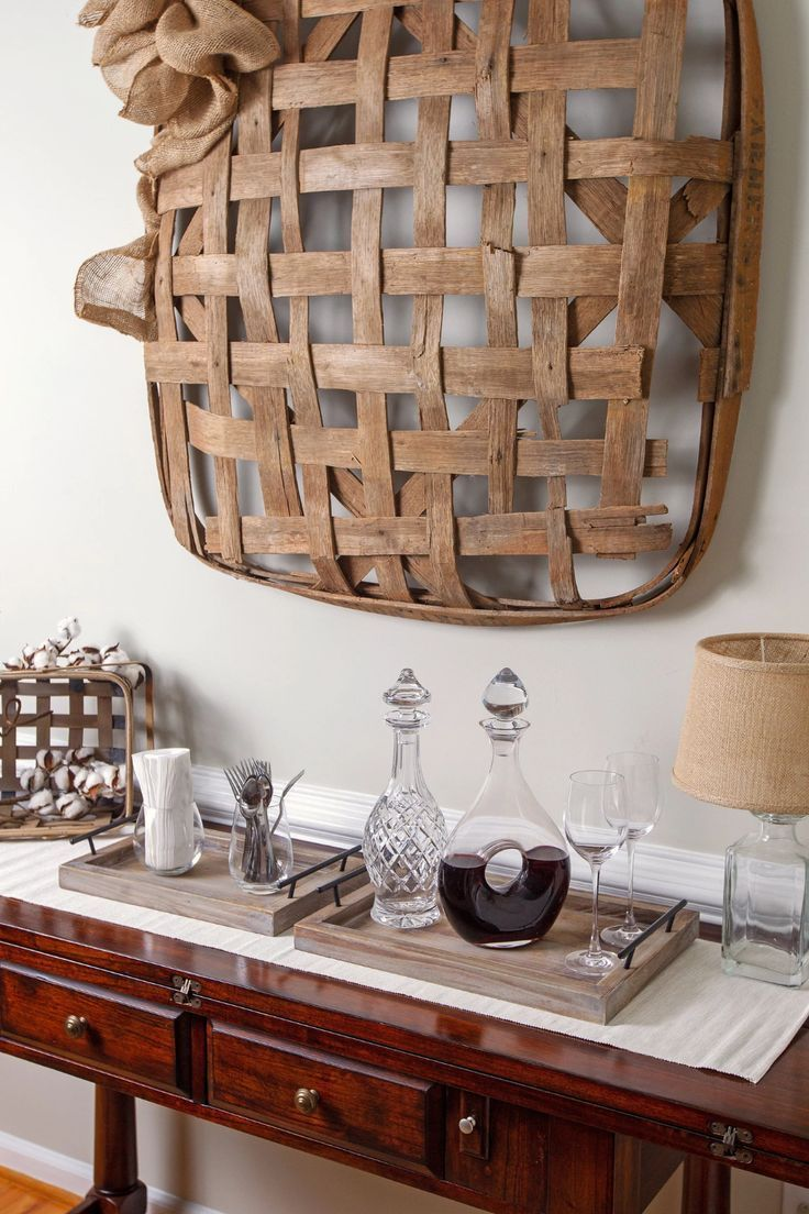 Photo of Bison Home Goods Wooden Serving Trays with Handles (2 Pc. Set) Rustic, Farmhouse Wood Butler Platters | Serve Breakfast, Appetizer, Coffee, Bar, and Food | Party or Display Use …