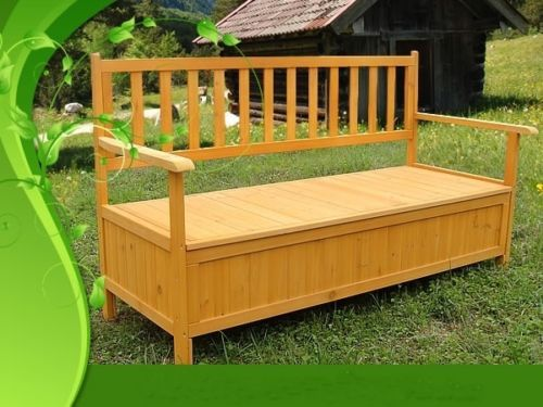 cassapanca-panca-baule-box-in-legno-per-esterno-giardino-cucina ... - Panche In Legno Per Cucina
