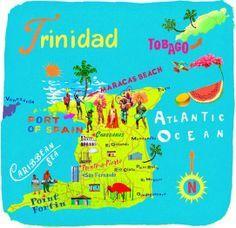 Carte Les Iles Des Caraibes Map Caribbean Islands Avec