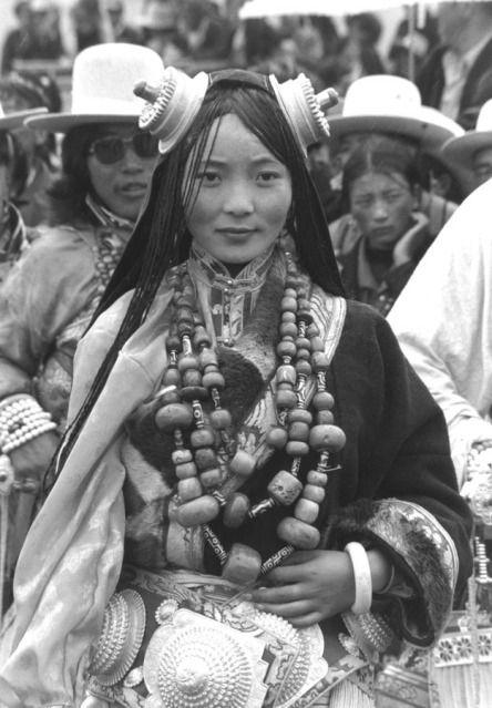 Кочевники Тибета и Бутана. | Тибет, Портрет, Этническое платье