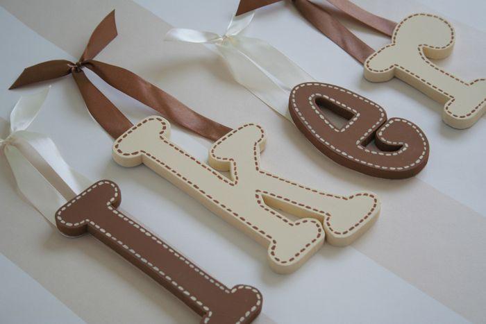 Letras de madera para decorar paredes ideas para babies - Ideas para decorar letras de madera ...