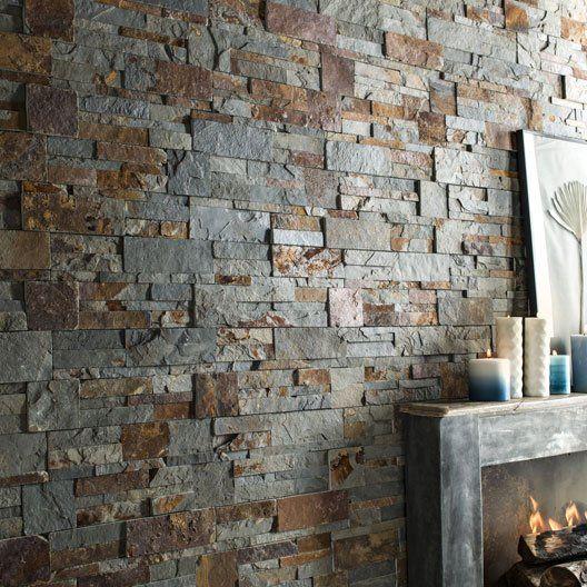 Plaquette de parement pierre naturelle multicolore elegance plaquettedeparement decointerieure mur