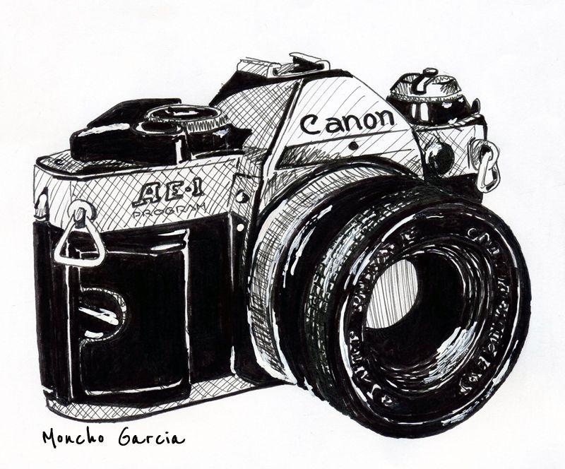 Moncho García Quién Es Canon Cámara De Fotos Dibujo Dibujos Camaras Fotograficas Tatuaje De Cámara