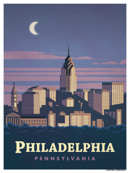 See Philadelphia Vintage Style Travel Poster 18x24