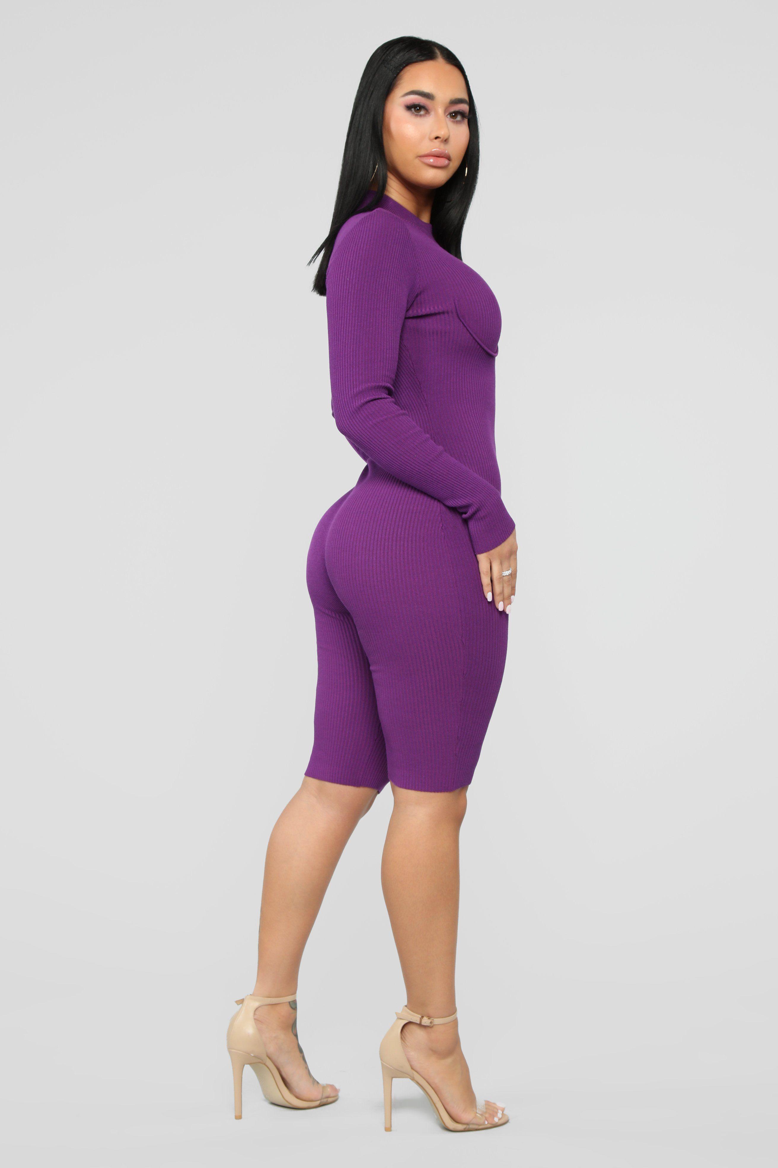 Set It Off Capri Jumpsuit Purple Capri jumpsuit, Long