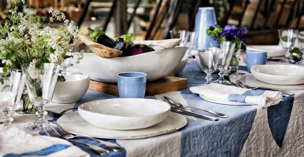 S&B Handmade 43cm Porcelain Extra Large Salad Bowl with Pink Rim #pinkrims
